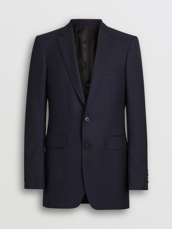 Classic Fit Wool Twill Suit in Navy - Men | Burberry United States - cell image 3