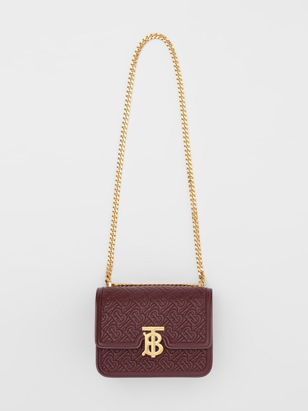 Small Quilted Monogram Lambskin TB Bag in Oxblood - Women | Burberry United Kingdom - cell image 2