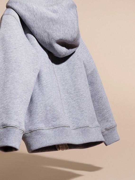 Camaïeu de gris moyens Haut en coton à capuche Camaïeu De Gris Moyens - cell image 3