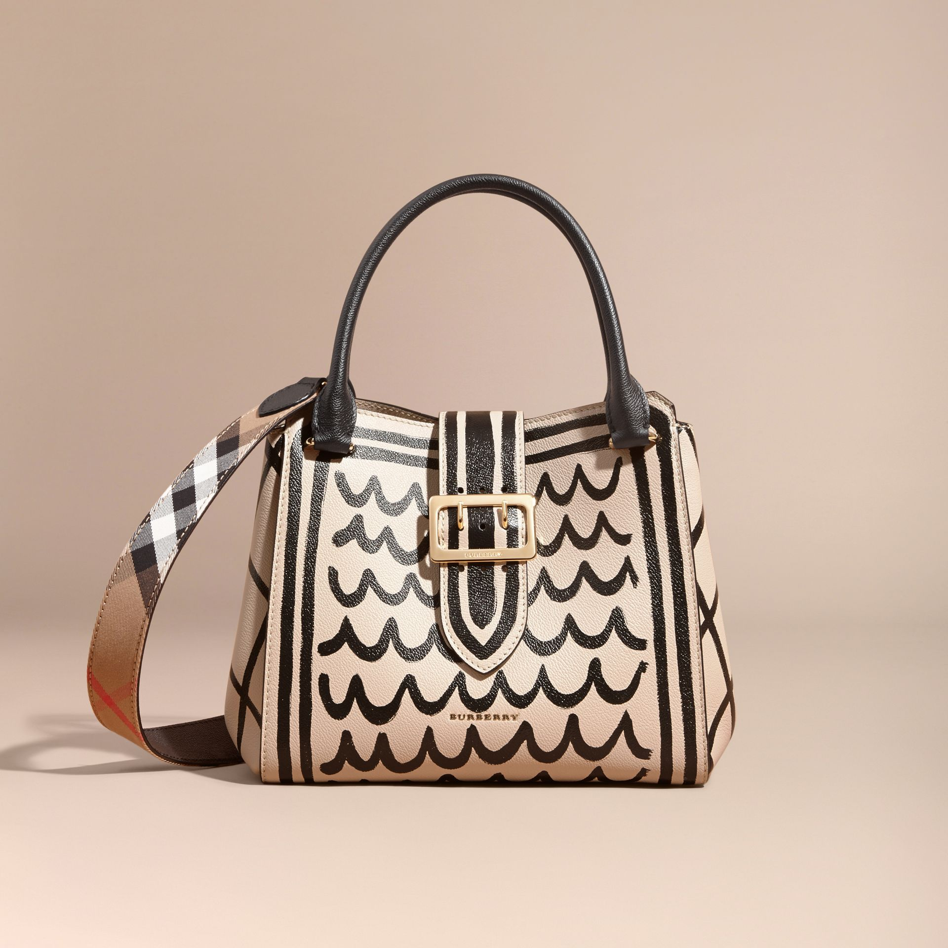 The Medium Buckle Tote in Trompe L'oeil Print Leather - gallery image 9