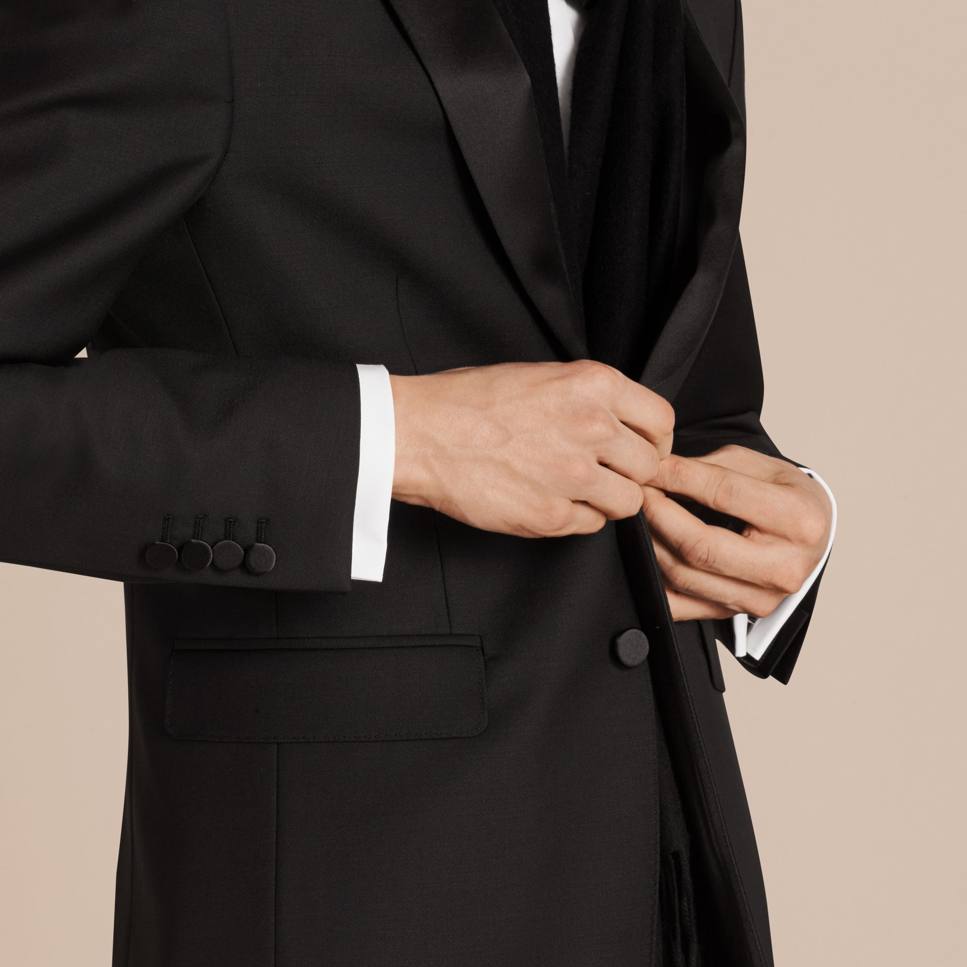 Modern Fit Wool Mohair Half-canvas Tuxedo - Men | Burberry - gallery image 2