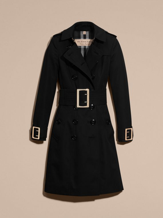 Cotton Gabardine Trench Coat with Oversize Buckles - cell image 3