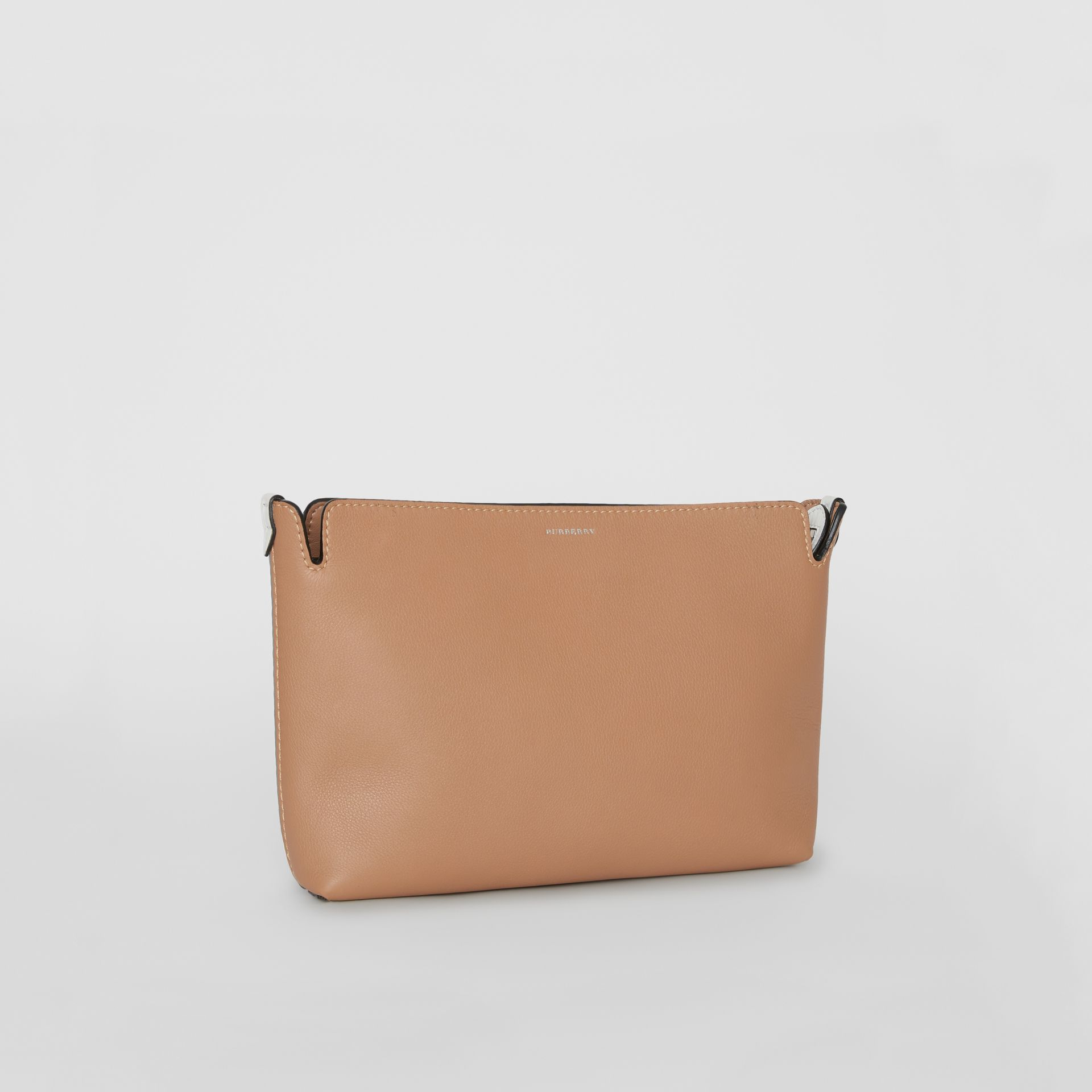Medium Two-tone Leather Clutch in Light Camel/chalk White - Women | Burberry United States - gallery image 6