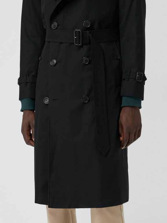 The Long Chelsea Heritage Trench Coat in Black - Men | Burberry - cell image 1