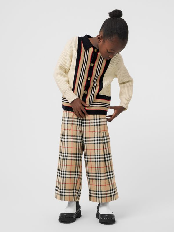 Vintage Check Wool Sailor Trousers in Archive Beige | Burberry - cell image 2