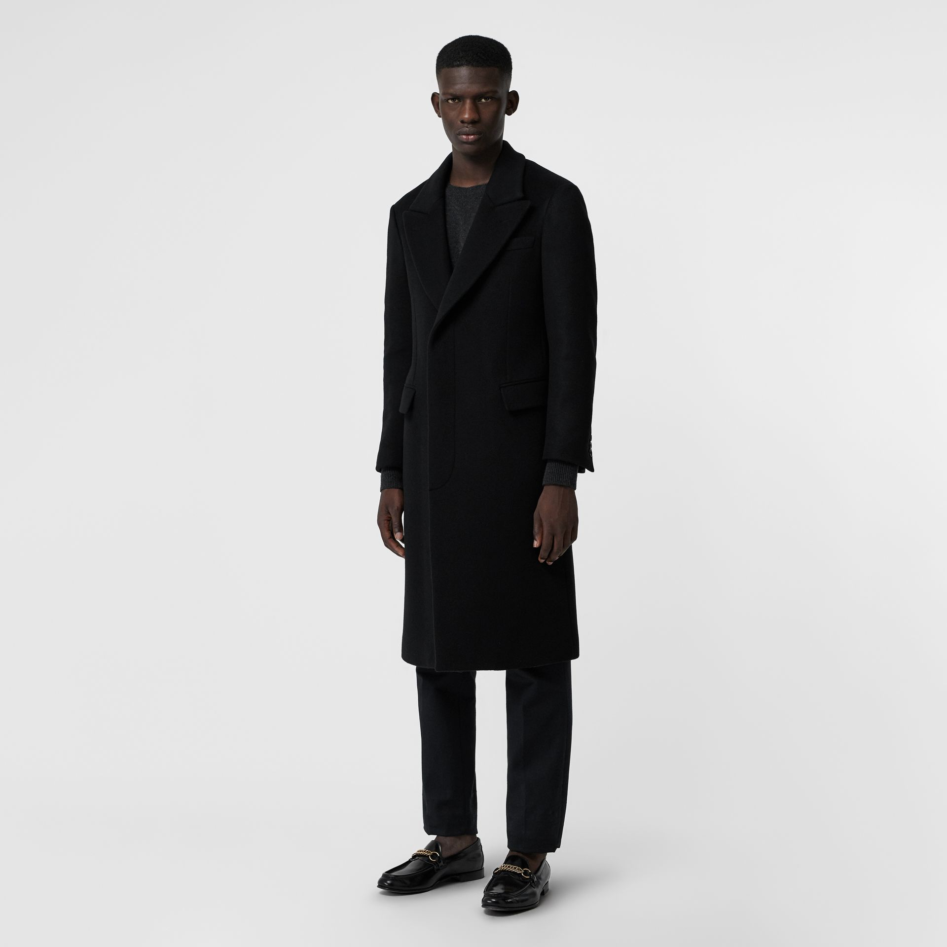 Double-faced Cashmere Tailored Coat in Black - Men | Burberry United Kingdom - gallery image 5