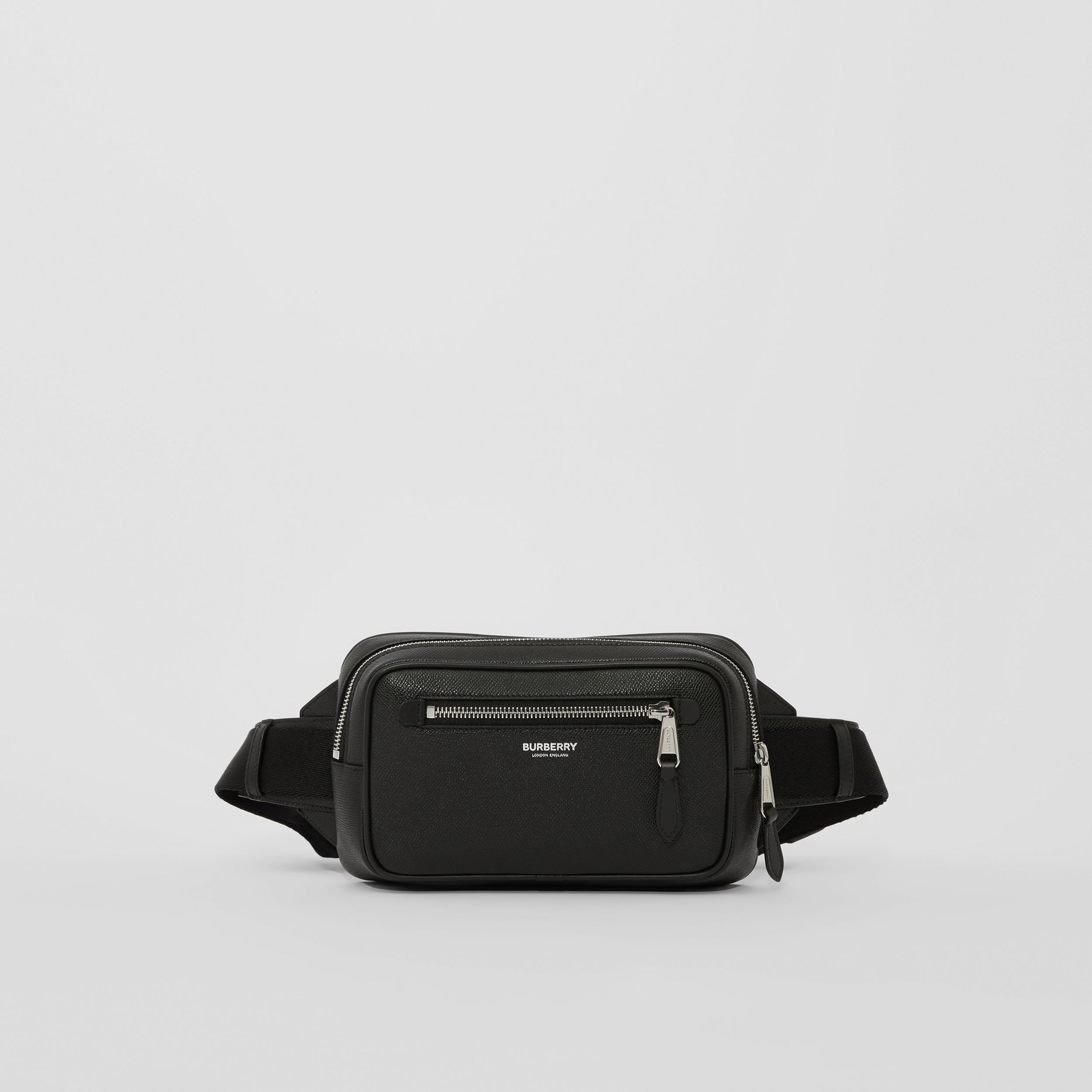 Grainy Leather Bum Bag in Black - Men | Burberry - 1