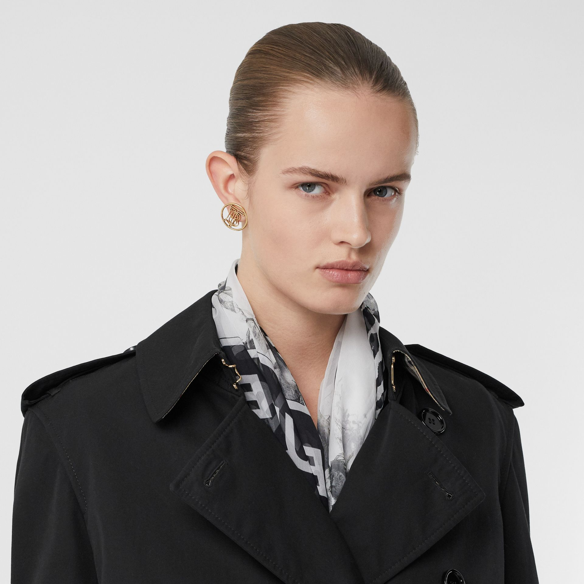 Two-tone Reconstructed Trench Coat in Black - Women | Burberry - gallery image 1