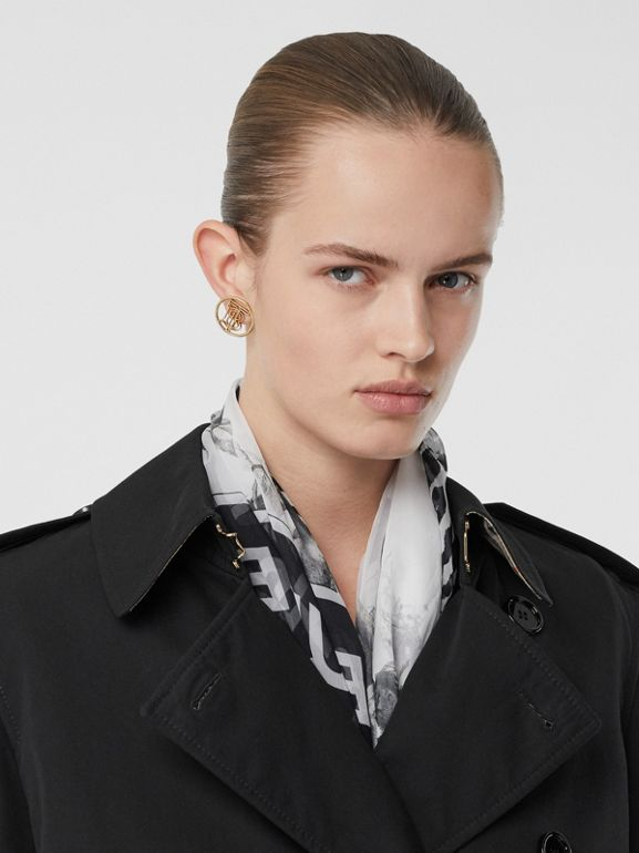 Two-tone Reconstructed Trench Coat in Black - Women | Burberry - cell image 1