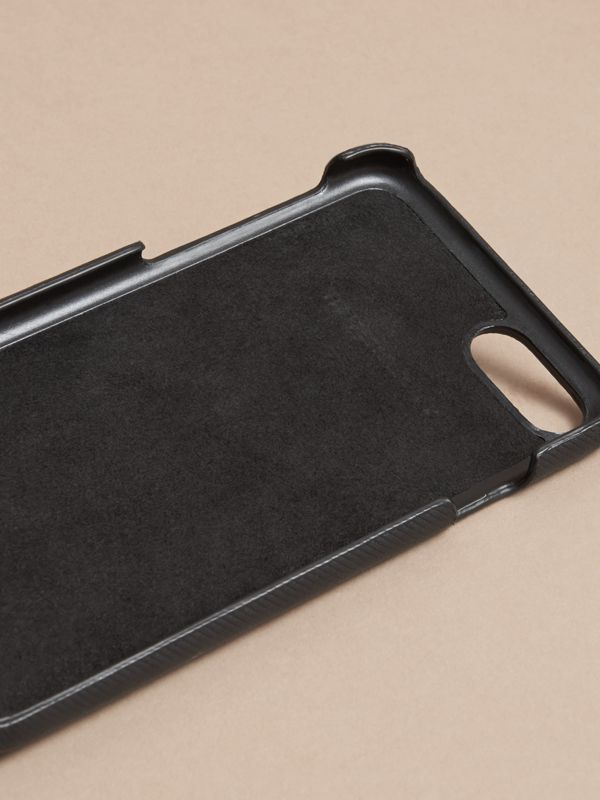 Trench Leather iPhone 7 Case in Black | Burberry United Kingdom - cell image 3