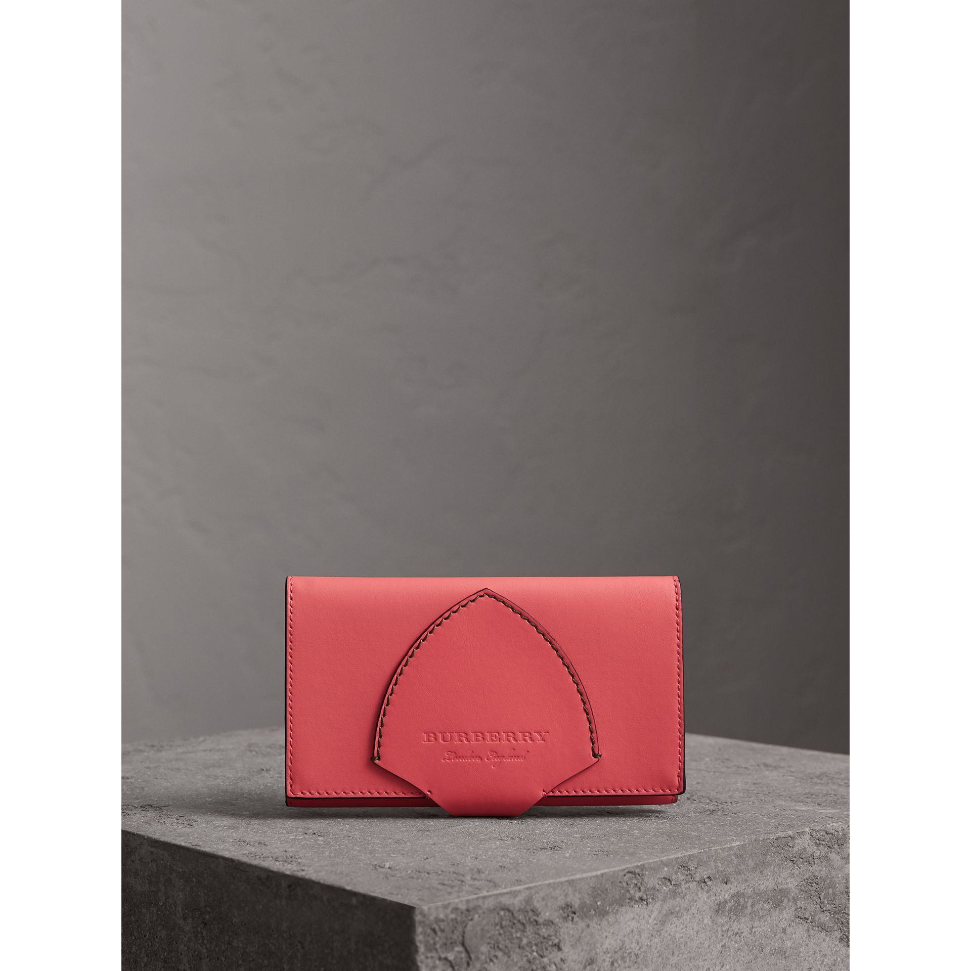Equestrian Shield Two-tone Leather Continental Wallet in Peony Pink - Women | Burberry - gallery image 5