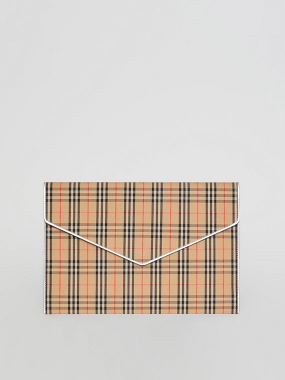 Large 1983 Check Envelope Pouch in Silver