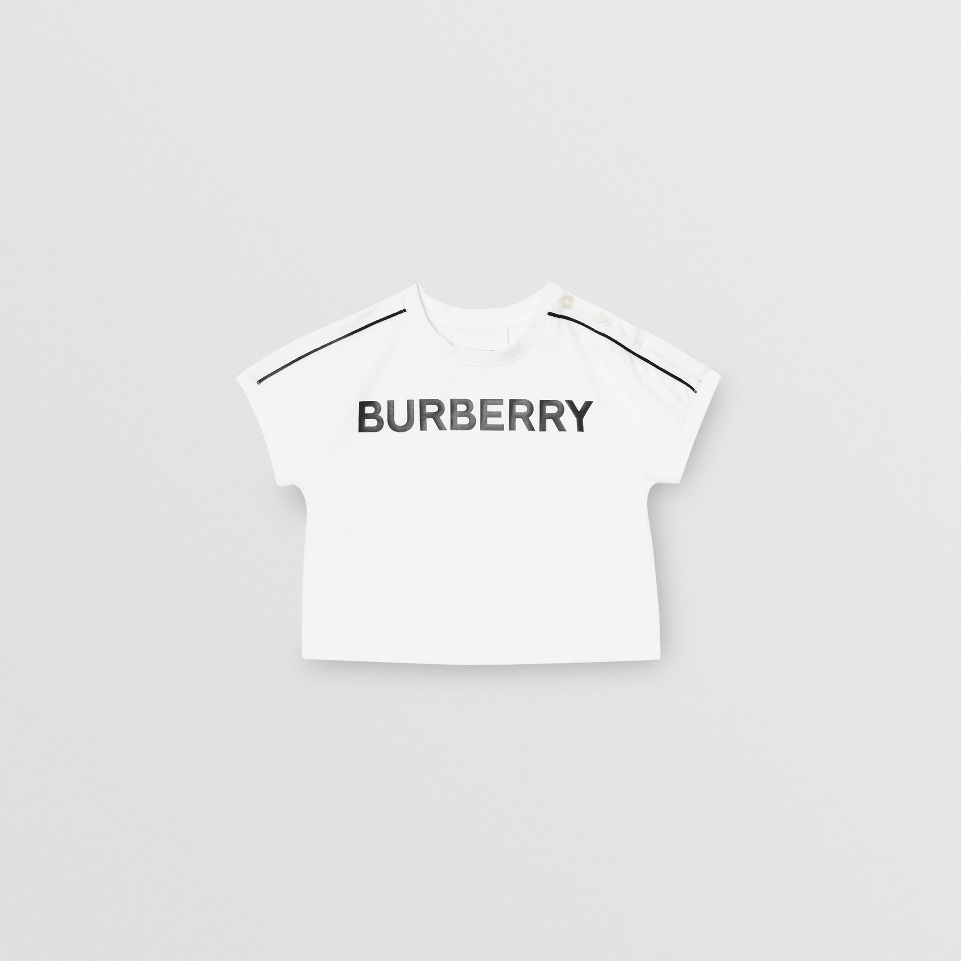 Logo Cotton T-shirt in White - Children | Burberry United Kingdom - gallery image 0