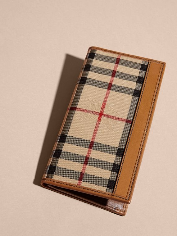 Small Horseferry Check Currency Wallet in Tan - Men | Burberry Canada - cell image 2
