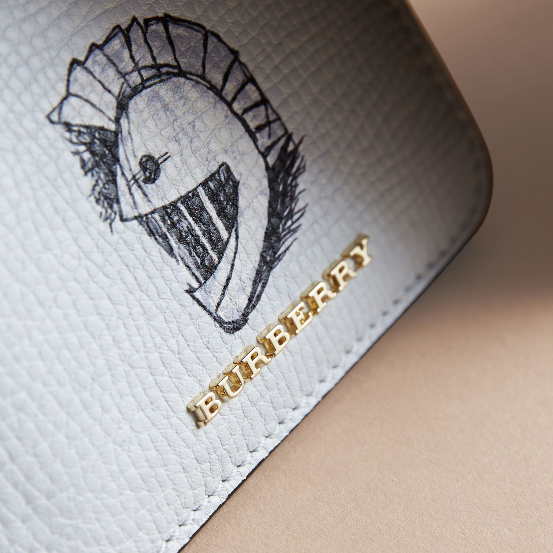 Pallas Helmet Motif Leather ID Card Case - Women | Burberry - gallery image 2