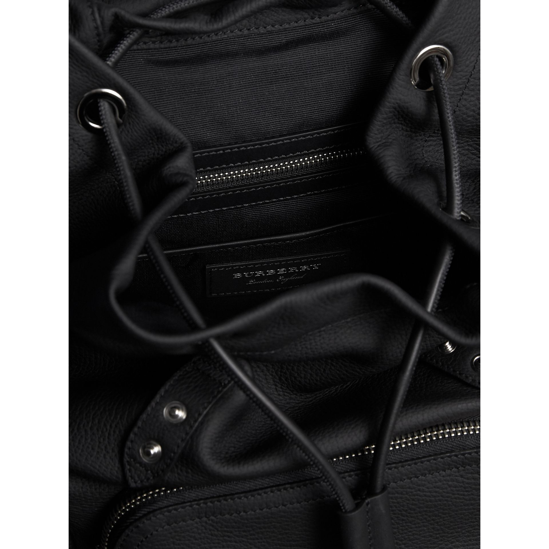 The Medium Rucksack in Deerskin with Resin Chain in Black - Women | Burberry - gallery image 4
