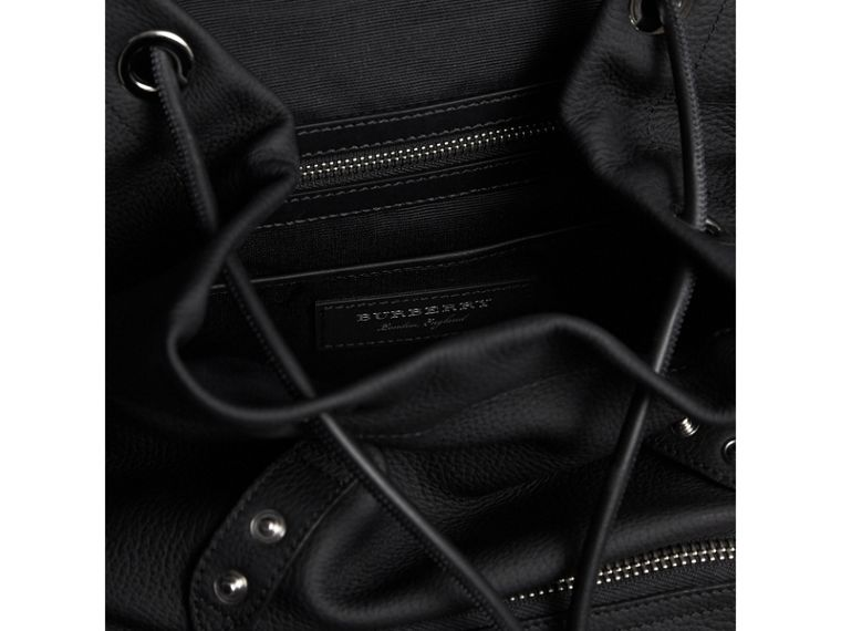 The Medium Rucksack in Deerskin with Resin Chain in Black - Women | Burberry Australia - cell image 4