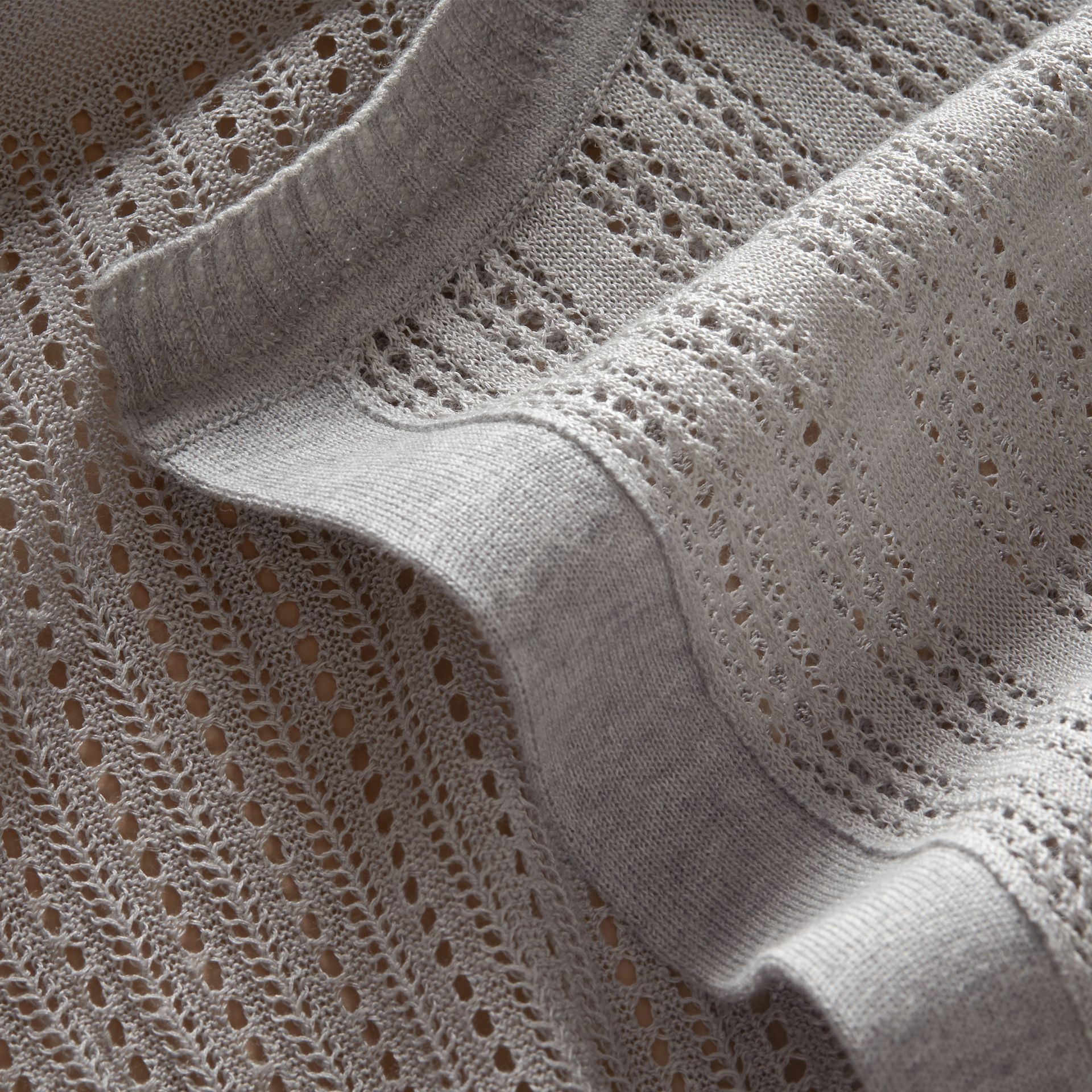 Multi-stitch Linen Silk Open Cardigan - Women | Burberry Australia - gallery image 2