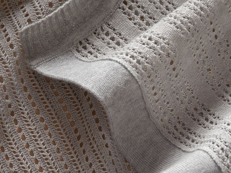 Multi-stitch Linen Silk Open Cardigan - Women | Burberry - cell image 1