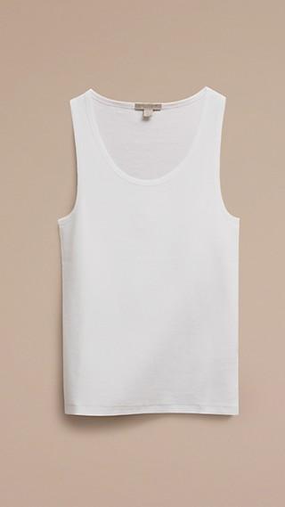 Stretch Cotton Lyocell Vest