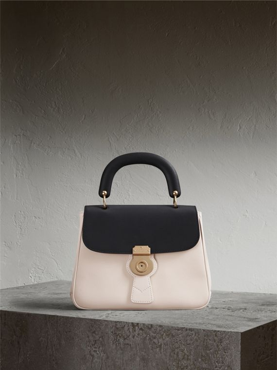 The Medium DK88 Top Handle Bag in Natural/black - Women | Burberry