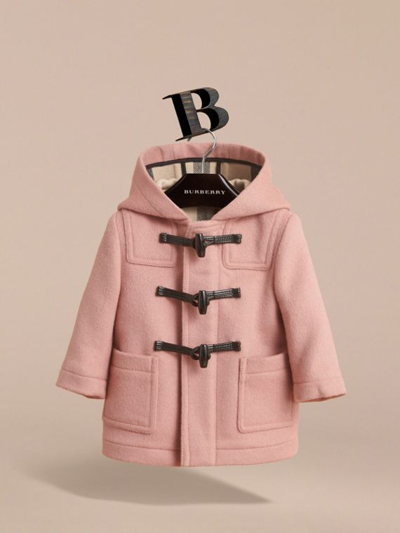 Wool Duffle Coat in Pale Rose | Burberry - cell image 2