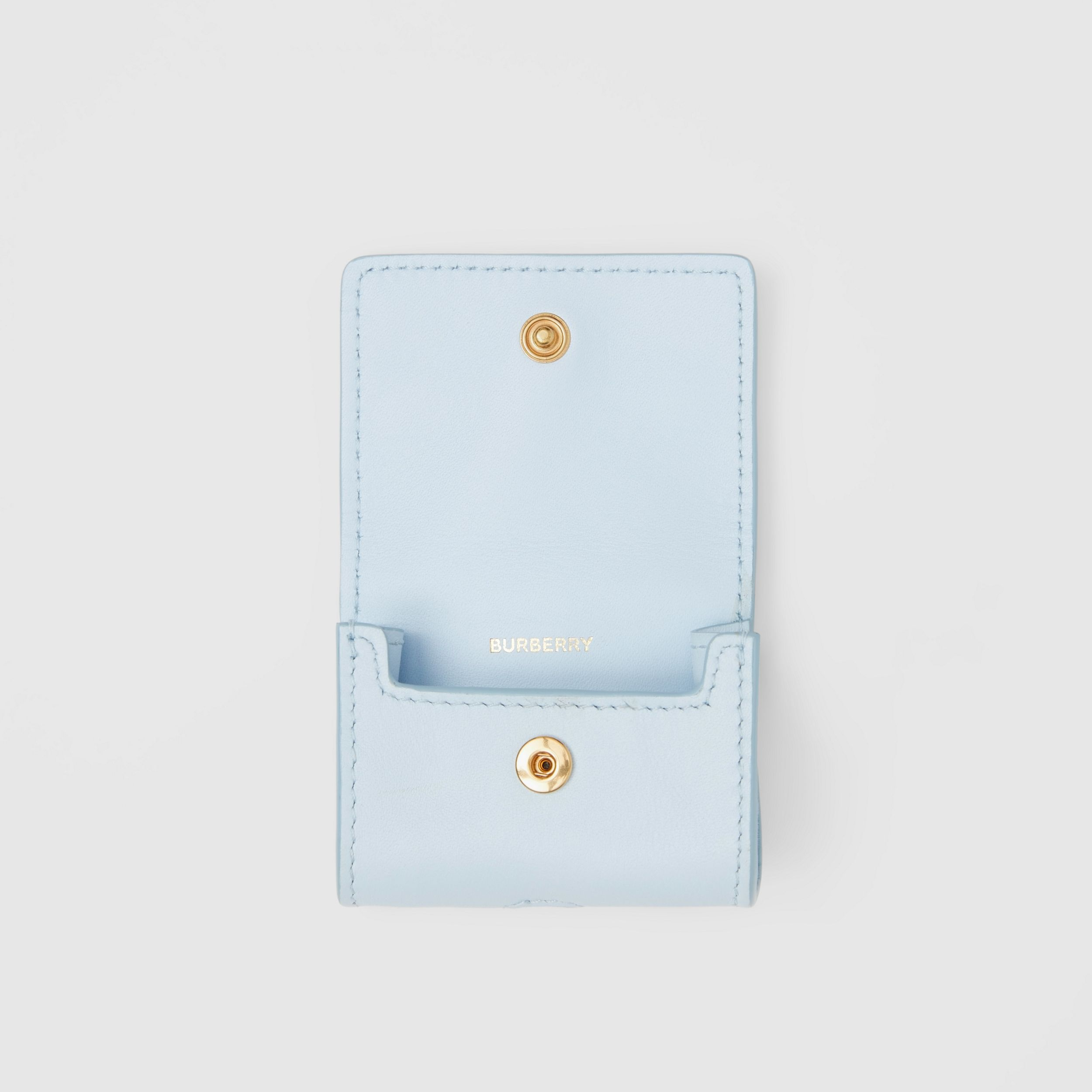 Leather AirPods Pro Case in Pale Blue | Burberry United States - 4