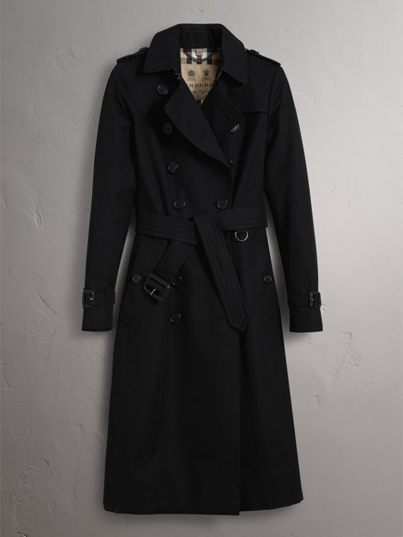 The Chelsea – Extra-long Heritage Trench Coat in Black - Women | Burberry - cell image 3