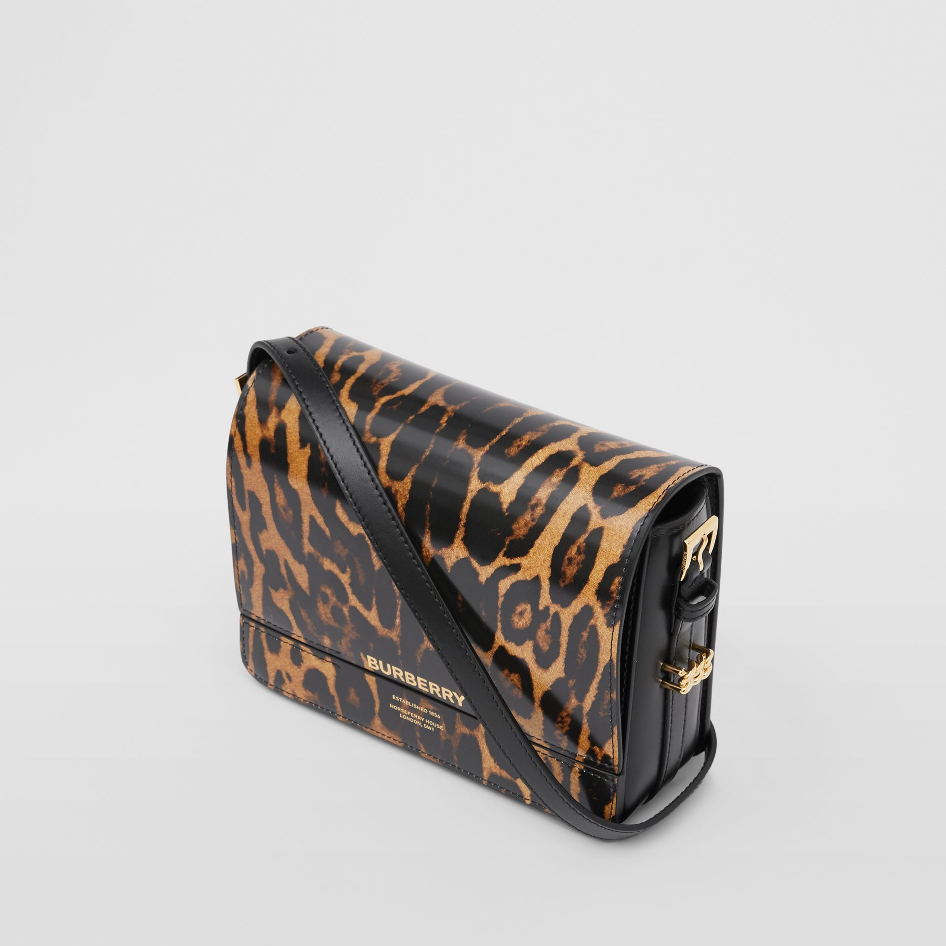 Petit sac Grace en cuir à imprimé léopard (Moutarde Sombre) - Femme   Burberry - photo de la galerie 2