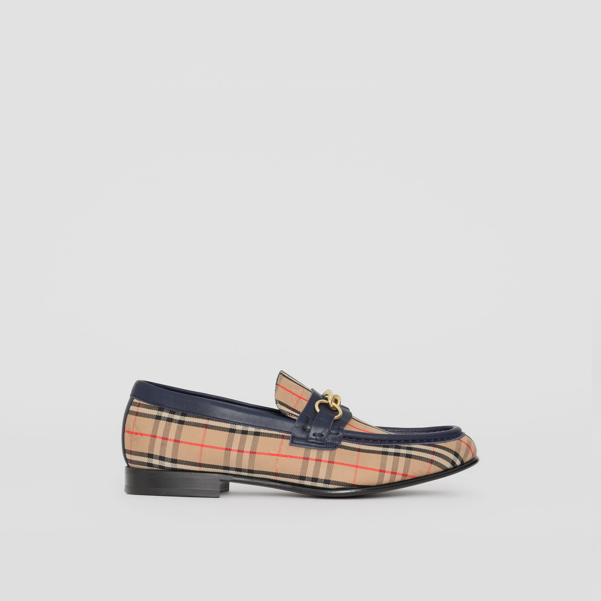 The 1983 Check Link Loafer in Ink Blue - Men | Burberry Singapore - gallery image 6