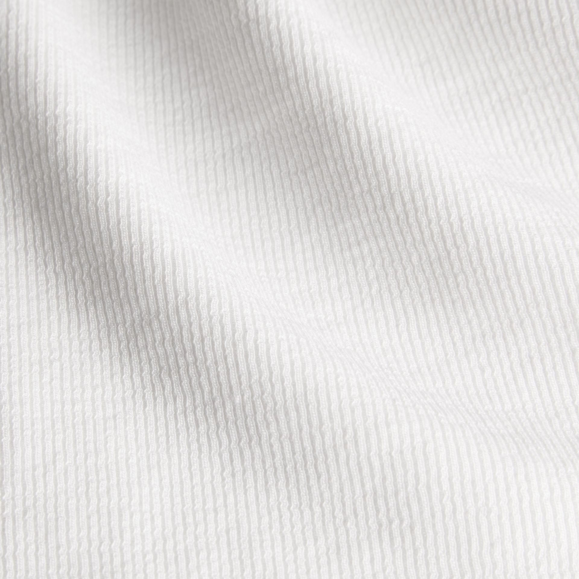 White Stretch Cotton Lyocell Vest - gallery image 4