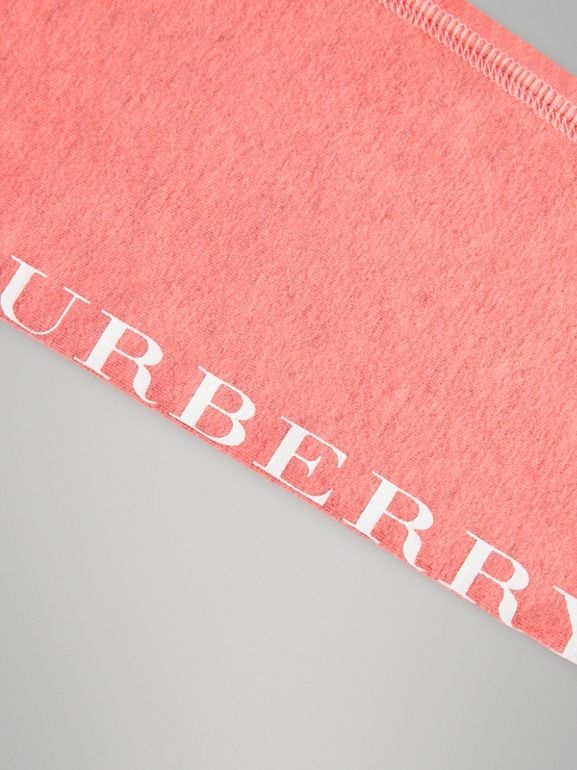Logo Print Stretch Cotton Leggings in Pale Pink | Burberry Singapore - cell image 1