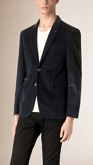 Veste de coupe étroite ajustée en velours côtelé