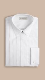 Chemise habillée ajustée en popeline de coton