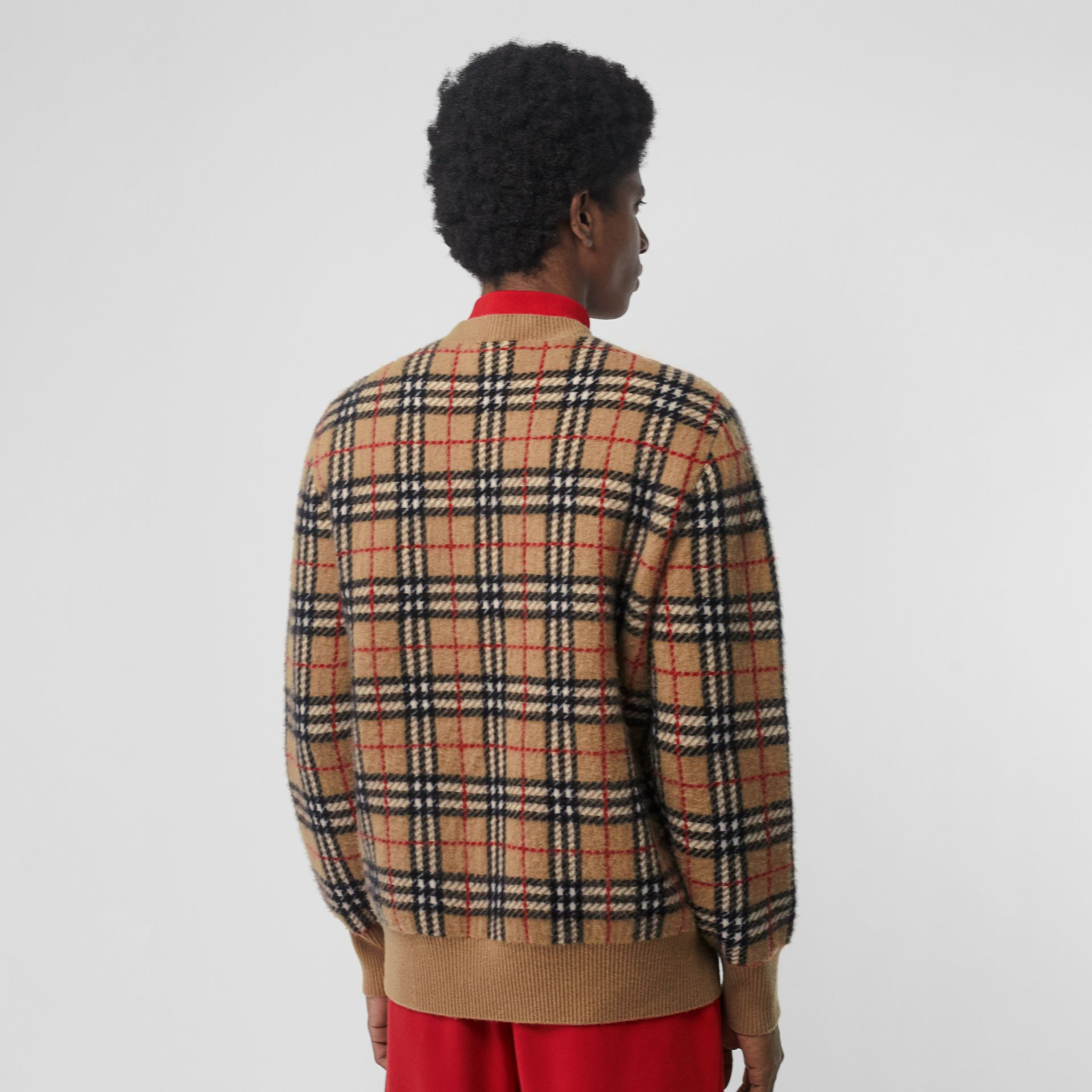 Vintage Check Cashmere Jacquard Sweater in Camel - Men | Burberry - gallery image 2