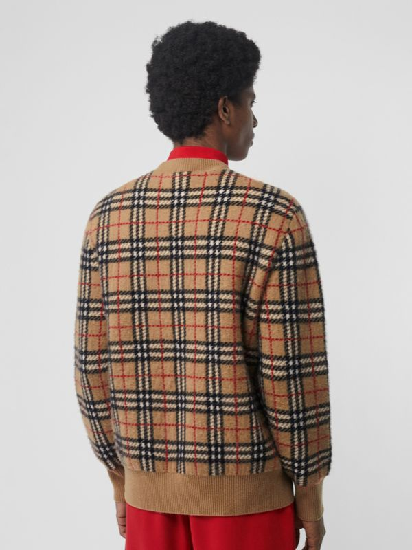 Vintage Check Cashmere Jacquard Sweater in Camel - Men | Burberry Hong Kong - cell image 2