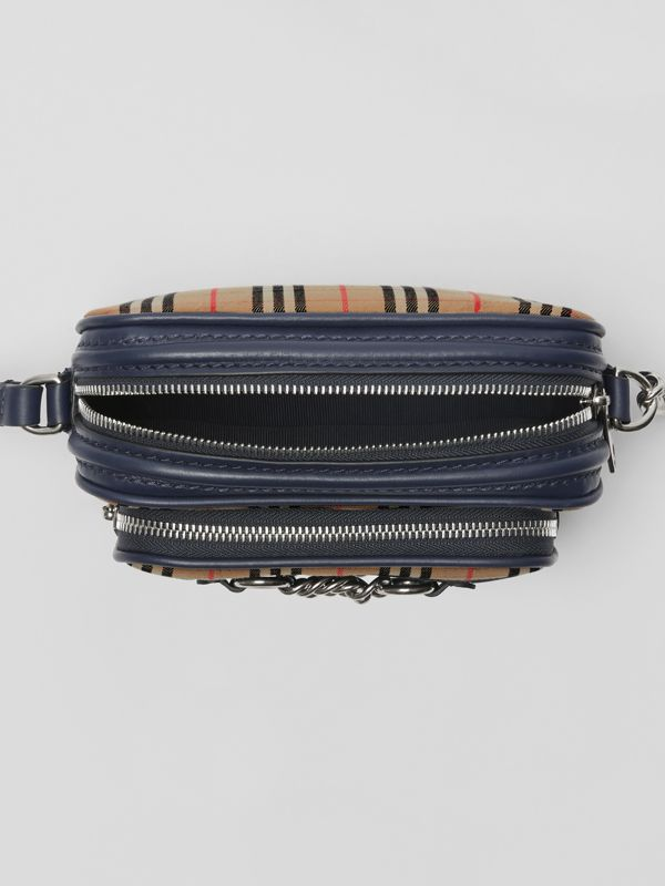The 1983 Check Link Camera Bag in Ink Blue - Women | Burberry - cell image 3