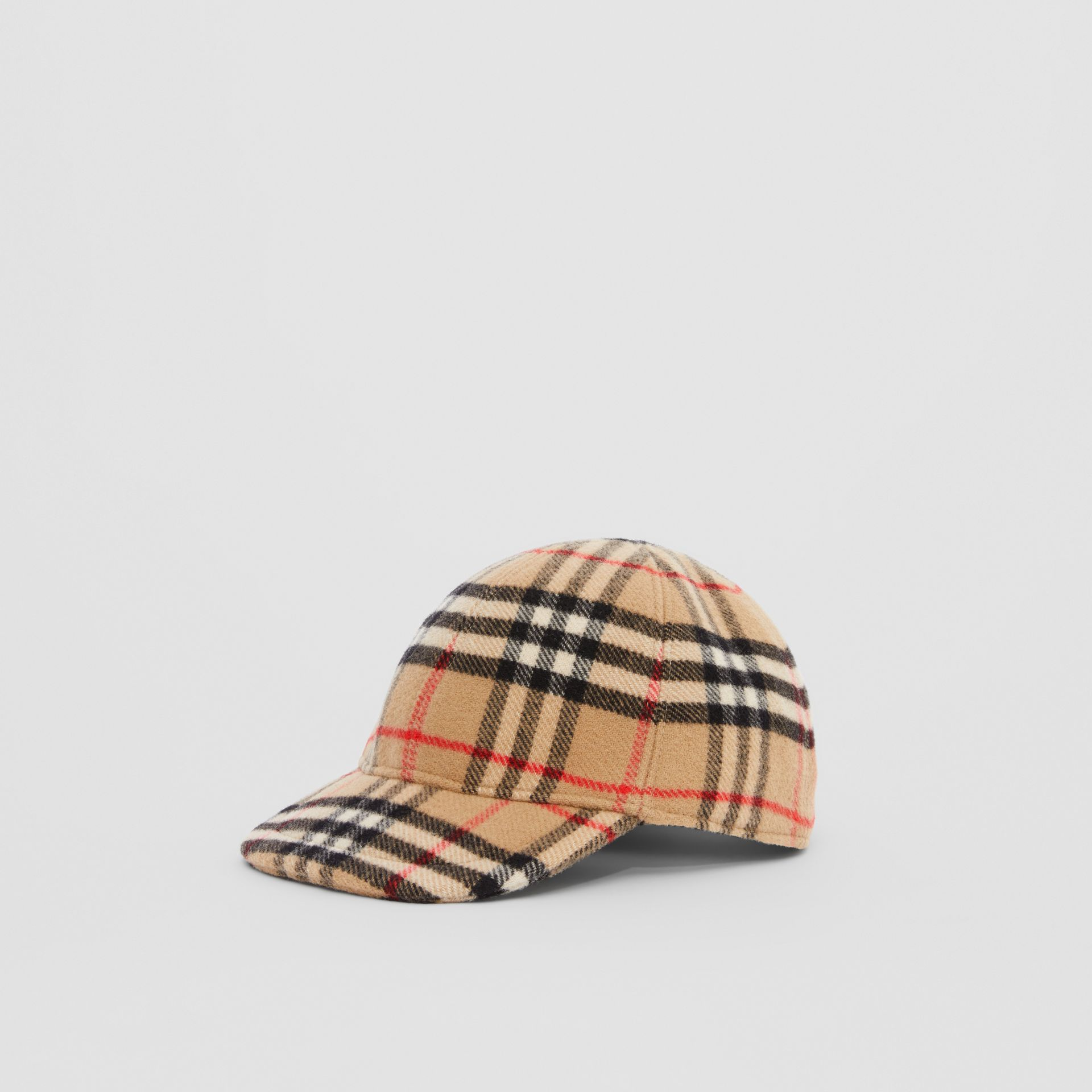 Vintage Check Wool Baseball Cap in Archive Beige - Children | Burberry - gallery image 3