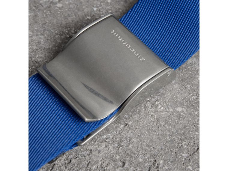 Plaque Buckle Nylon Belt in Dark Canvas Blue - Men | Burberry - cell image 1