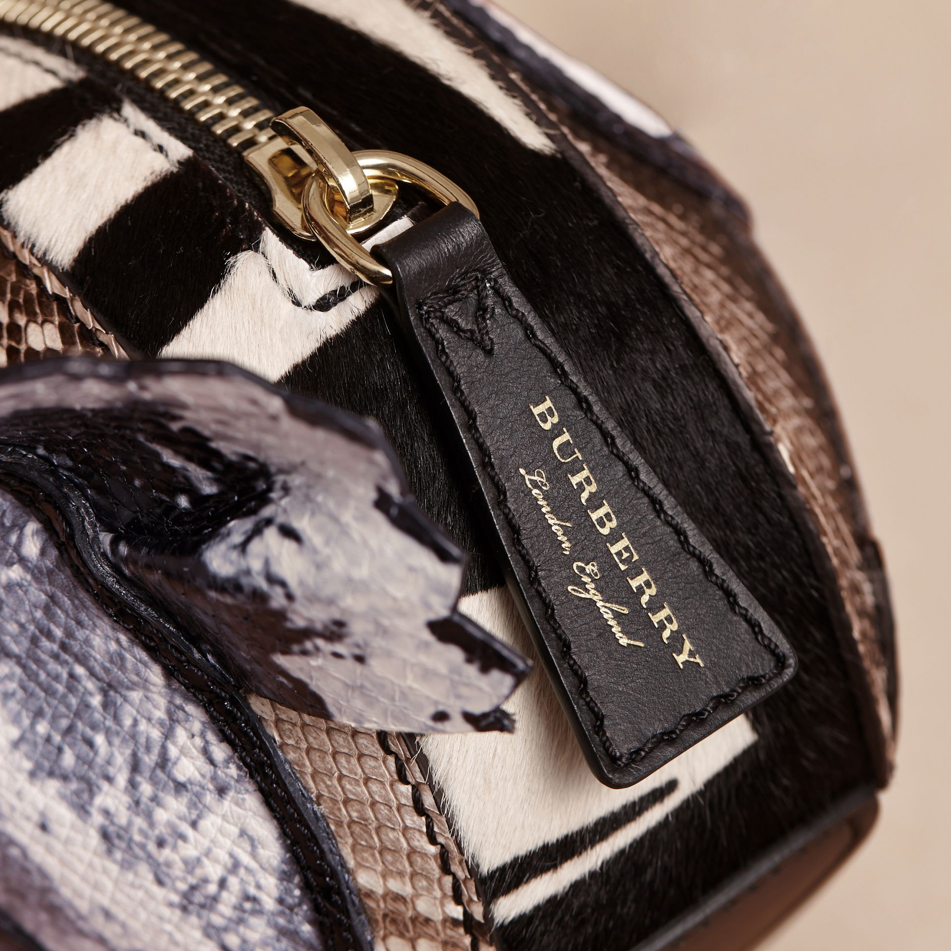 Leather and Snakeskin Pallas Head Shoulder Bag - Women | Burberry - gallery image 2