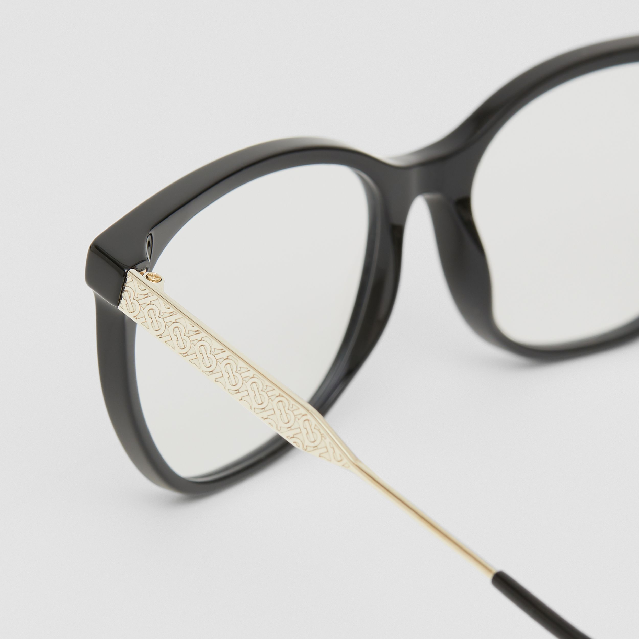 Cat-eye Optical Frames in Black - Women | Burberry - 2