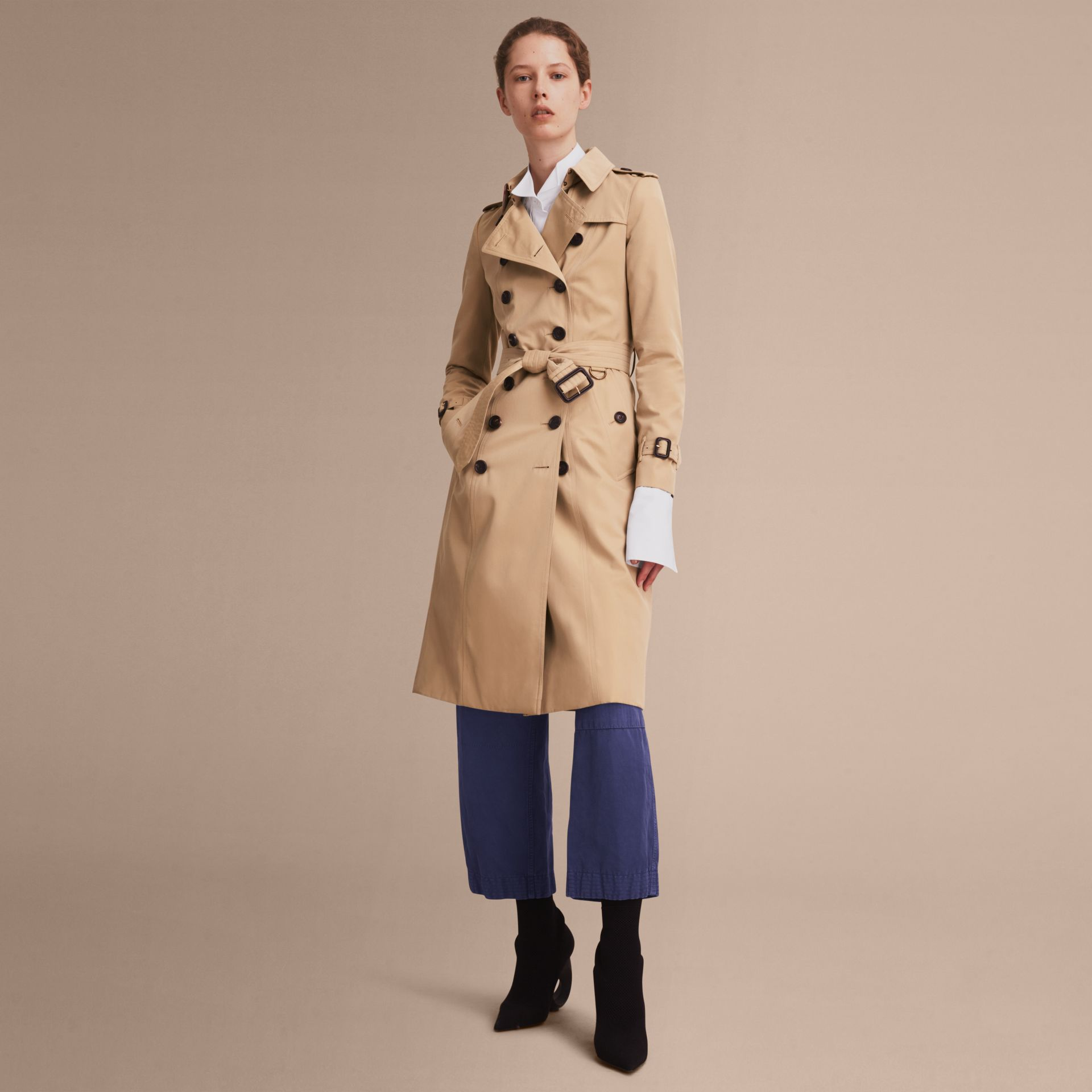 Honey The Chelsea – Extra-long Heritage Trench Coat Honey - gallery image 8