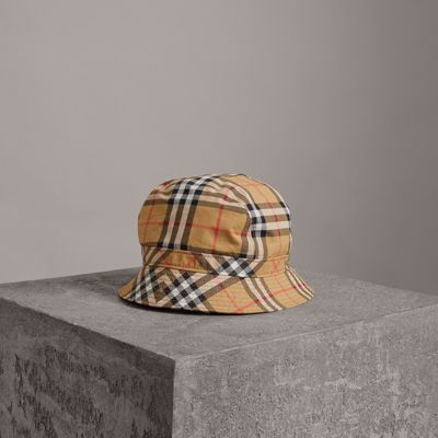 Vintage-check cotton cap Burberry v376a