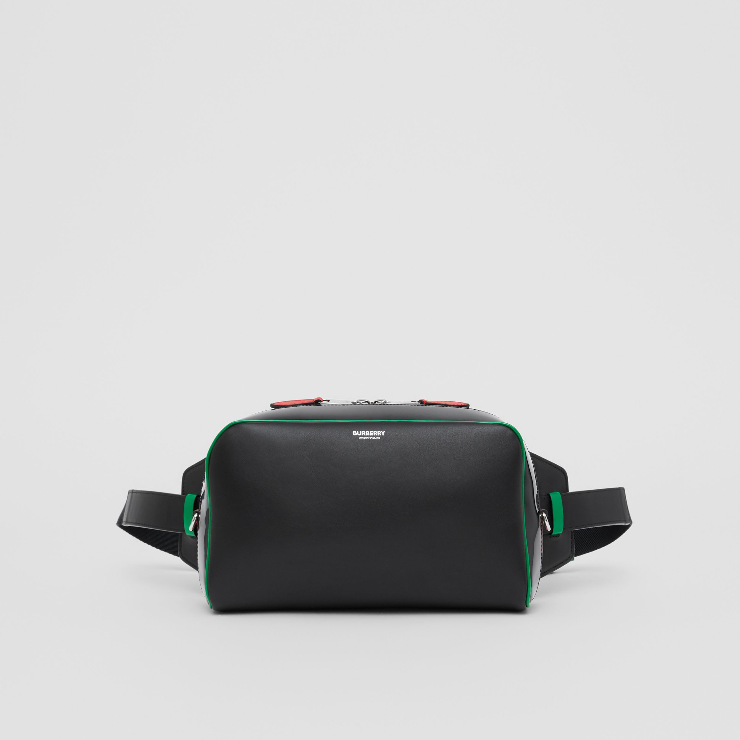 Leather and Vinyl Cube Bum Bag in Black - Women | Burberry - 1