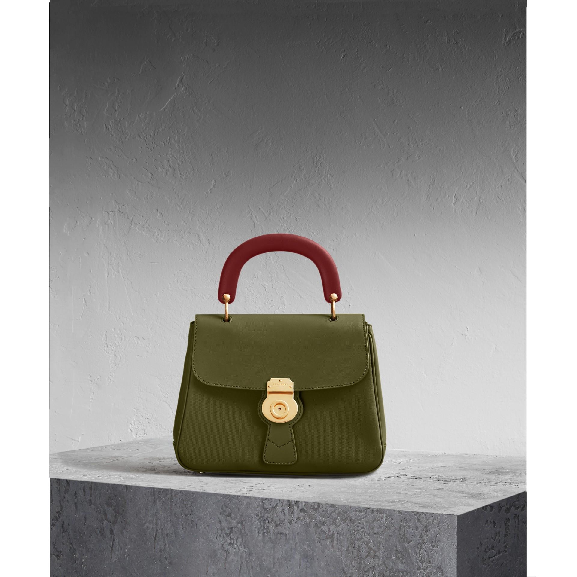 The Medium DK88 Top Handle Bag Moss Green - gallery image 1