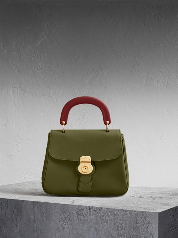 The Medium DK88 Top Handle Bag Moss Green