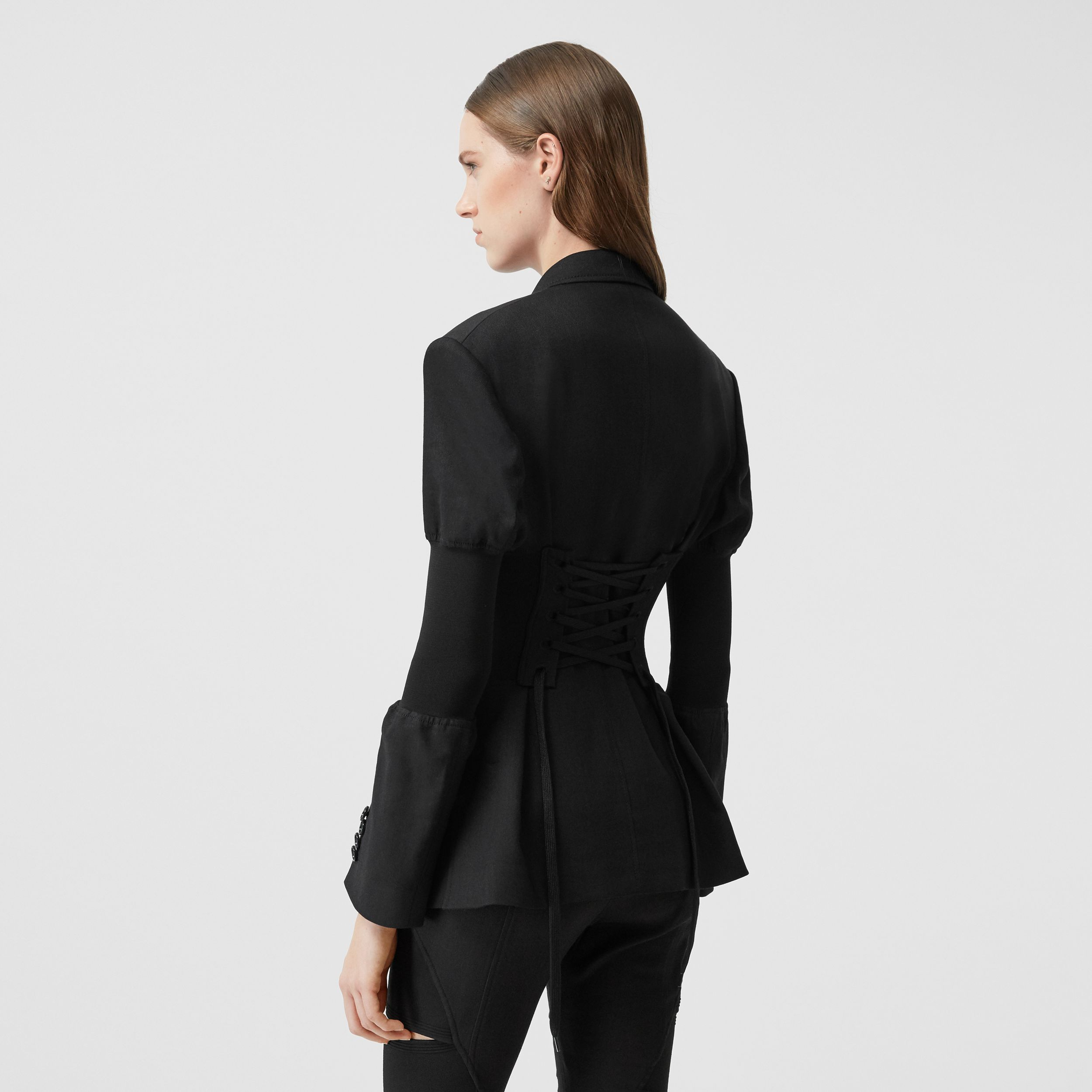 Technical Twill Reconstructed Blazer in Black - Women | Burberry - 3