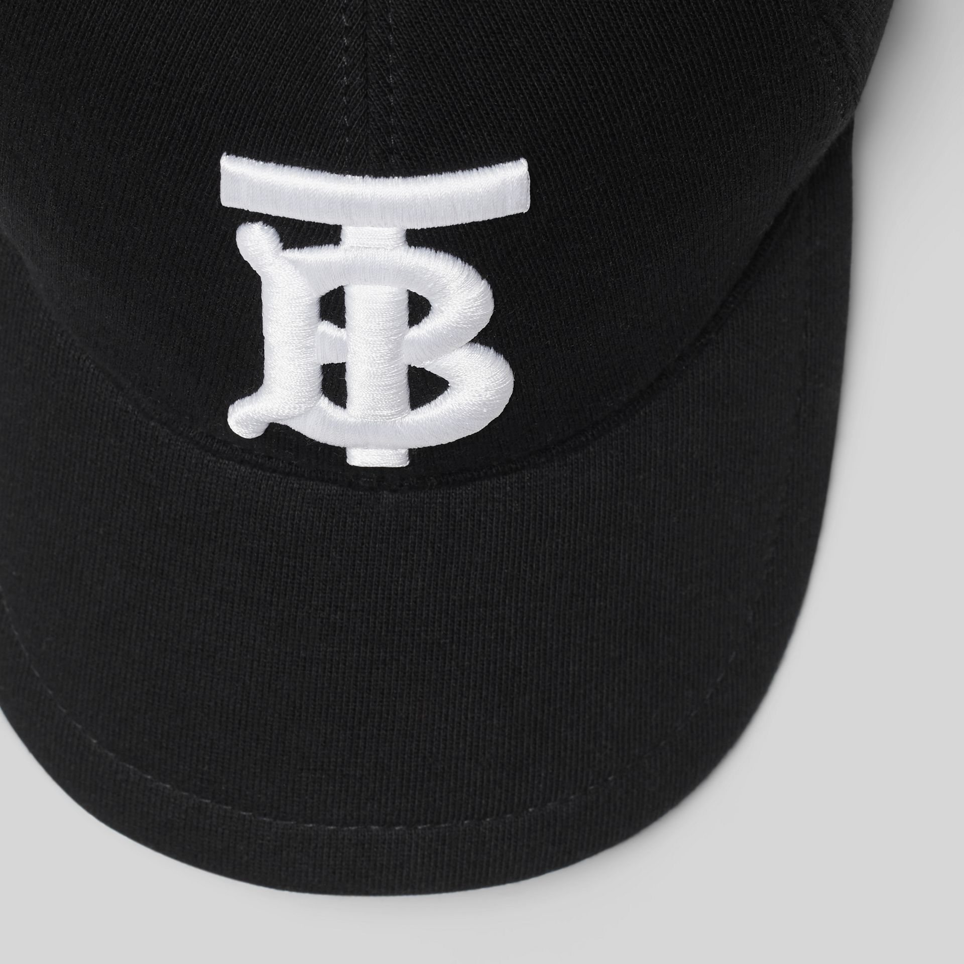 Monogram Motif Baseball Cap in Black | Burberry - gallery image 1
