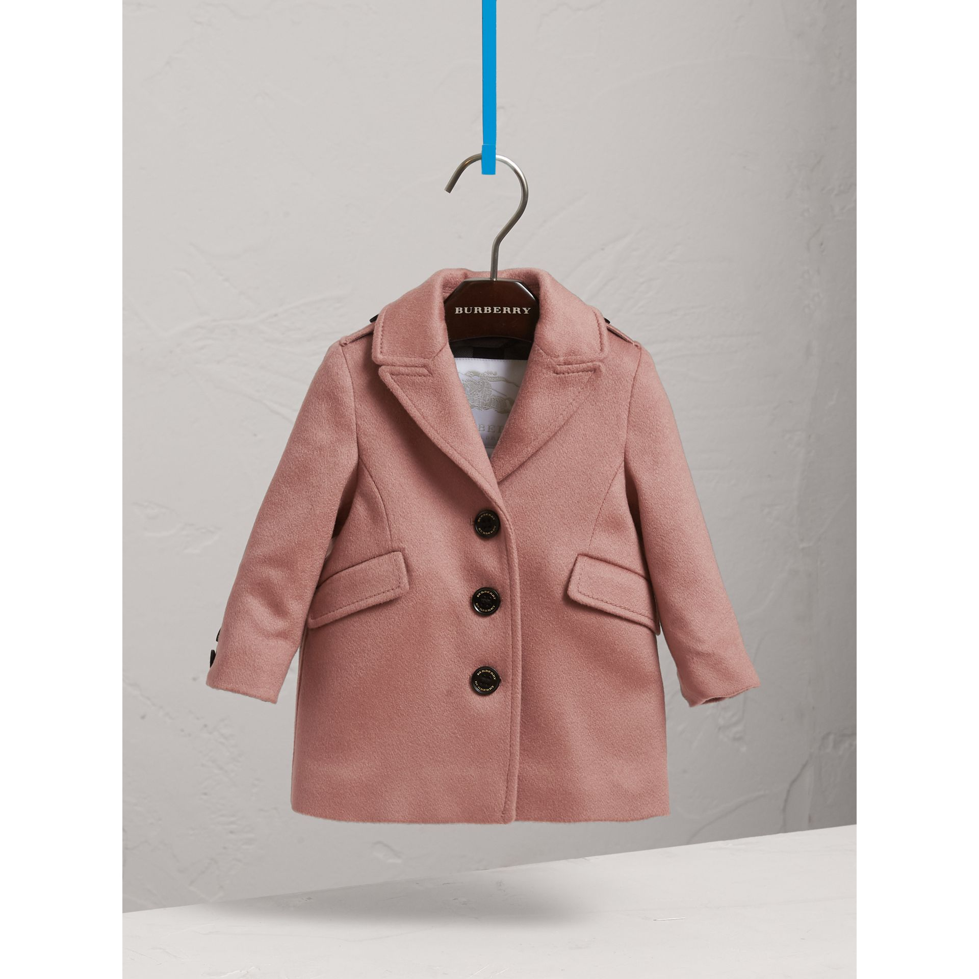 Cashmere Tailored Coat in Antique Rose | Burberry - gallery image 2