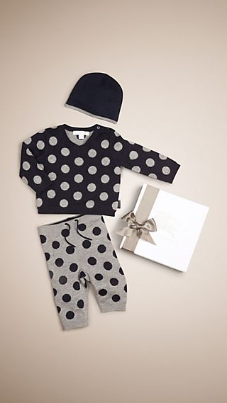 Polka Dot Cashmere Three-piece Gift Set